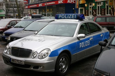 Police car from Hamburg, Germany