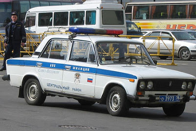 Police car from russia