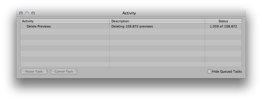Aperture deleting PREVIEWS 108K
