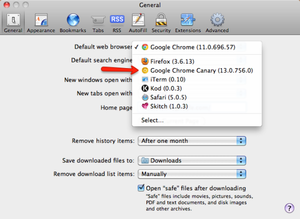 how to make safari default browser on mac
