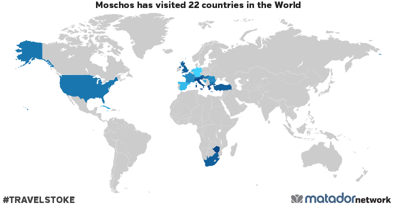 Moschos's Travel Map