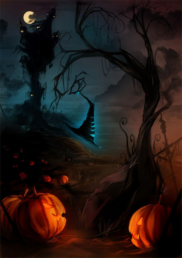 haldig6 20 Superb Examples of Halloween Themed Digital Art