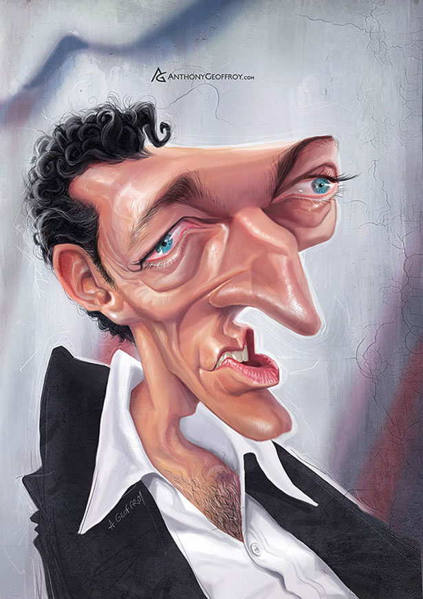 Famous and Funny Caricatures by Anthony Geoffroy