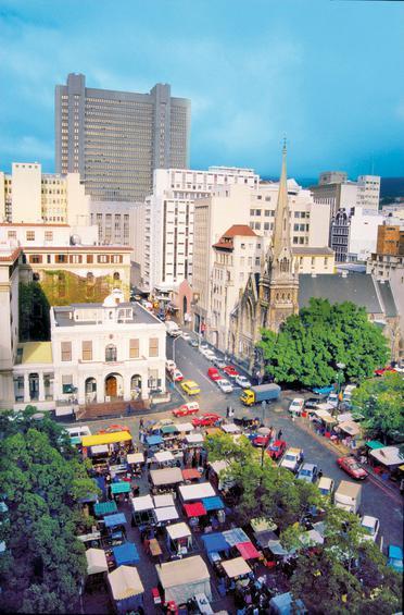 Αποψη από το εμπορικό κέντρο της πόλης.