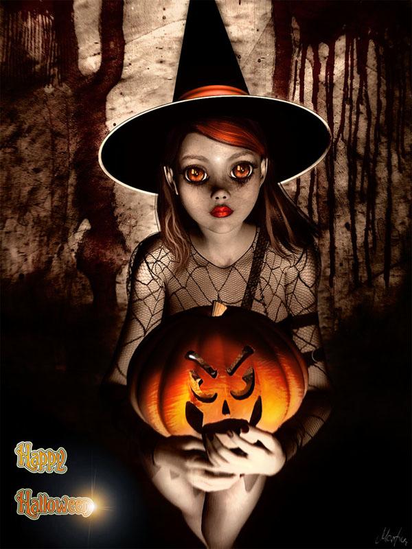haldig13 20 Superb Examples of Halloween Themed Digital Art
